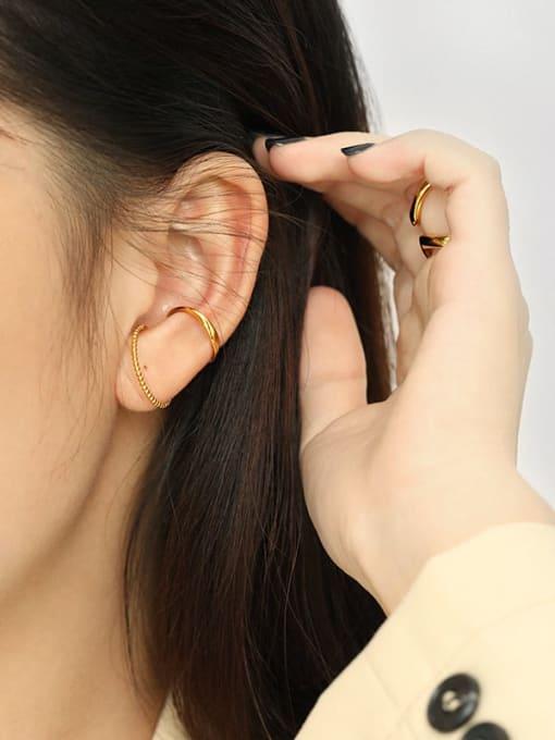 Dak Phoenix 925 Sterling Silver Irregular Minimalist Stud Earring[Single] 2